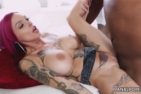 Busty inked Anna Bell Peaks fucks a BBC