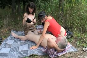 Outdoor Mature Couple With Horny Teen
