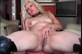 Dutch mother spreading awesome pussy and ass