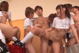 Asian teen sex dolls fucked in gangbang by hard dicks
