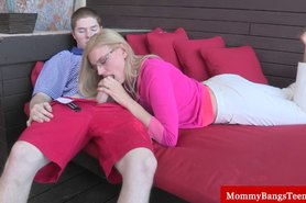 Milf busted with her stepson