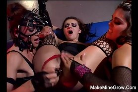 ARIA with glamorous lesbians in a cage lick and toy2