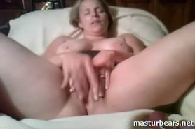 Milf Slut stuffing pussy with fingers and dildo