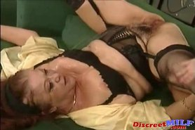 Nasty Granny wants some jizz and piss on her tits