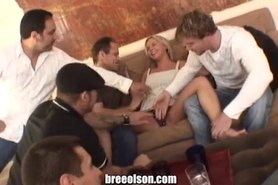 Bree Olson is fucking the hole crew at my party!