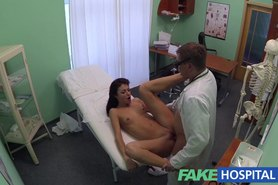 Doctor and nurse enjoy patients wet pussy
