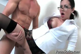 Petite Holly Dee fucking and sucking 3