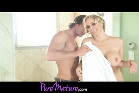 Milf Star Julia Ann In Shower Rub Down And Fuck