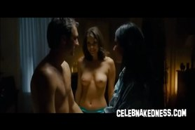 Celeb Olivia Munn and Nikki Moore nude and side boobage
