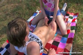 Outdoor butt fucking with Beata