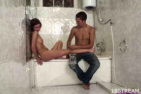 Kinky and wild bathroom sex