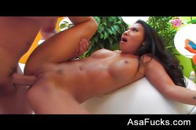 Asa Gets A Huge Load On Her Ass