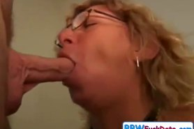 Mature make rent cheaper by sucking his cock