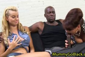 Busty Milf share dick with daughter