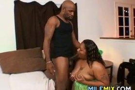 Fat Black MILF Riding A Big Cock
