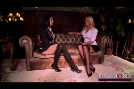 Stunning Young Harlots seduce the headmaster