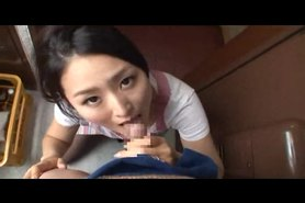 Mosaic: Risa gives blowjob 3