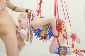 Anal Pinata girl -- brutal assfucking and punishment