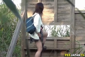 Asian teens piss in park