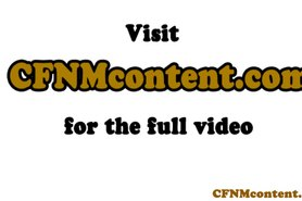 CFNM deepthroat action with glam milf group
