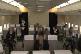 Japanese flight attendant's Physical strength service  1