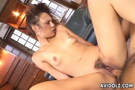 Gorgeous Japanese slut loves to ride on a thick boner