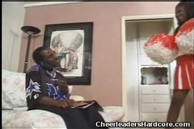 Ebony Cheerleader Blowjob