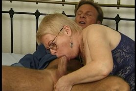Granny banged by sporty stud