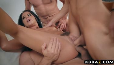 Anal Wife Party - Wife double anal and double pussy fucked at a dinner party (Adriana  Chechik) TNAFlix Porn Videos
