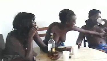 guy grabbing her tits