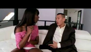 AMBW Ana Foxxx interracial with Oriental boyfrend