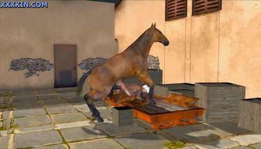 Horse porn animation