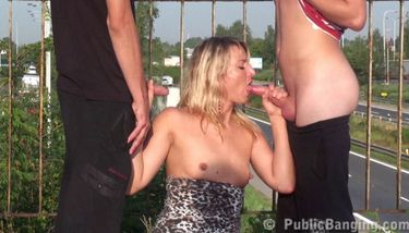 Publicbanging Beautiful Blonde In Public Sex Orgy Part 2