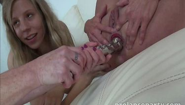 Prolapse Party Chastity Eating Two Anal Prolapses Tnaflix Porn