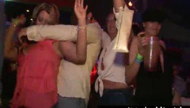 Drunk girl stripping