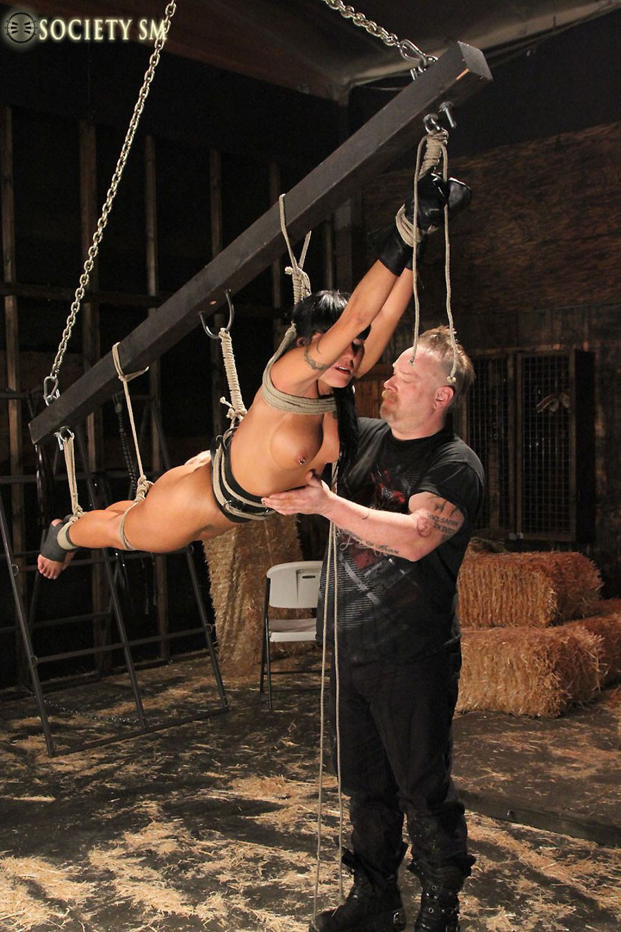 Leather Milf Learns To Love Bondage