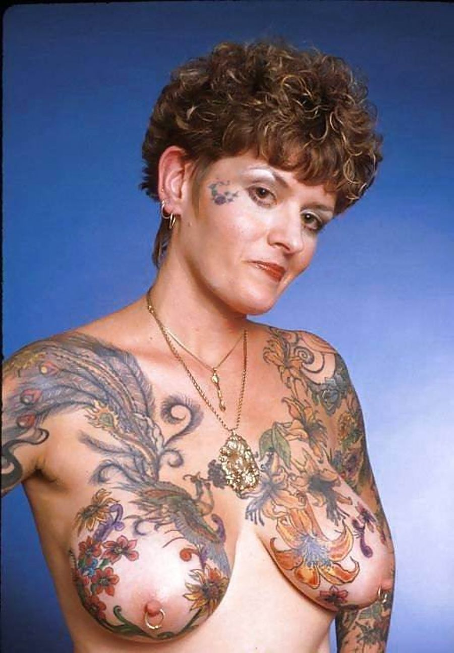 Chest tattoos with men models