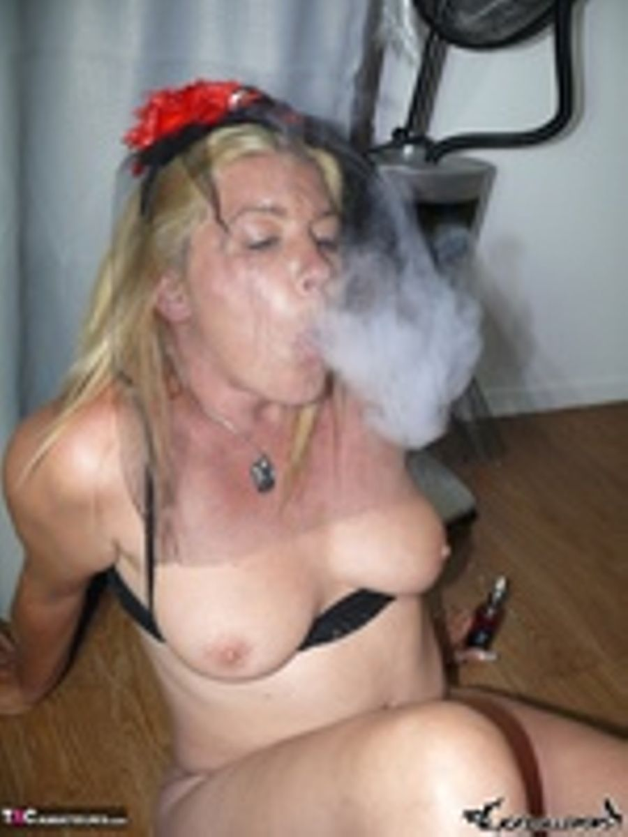Women Smoking Dangling