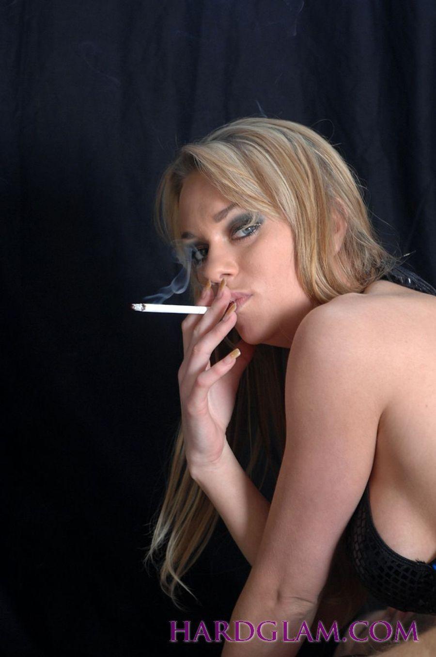 Dahlia Smoking A Cigarette