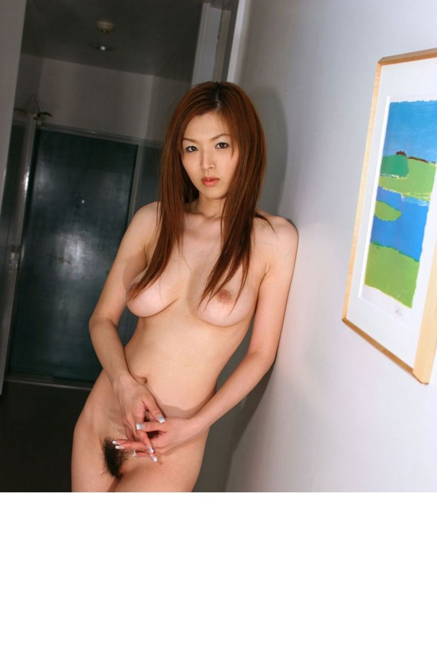 Slender asian nude
