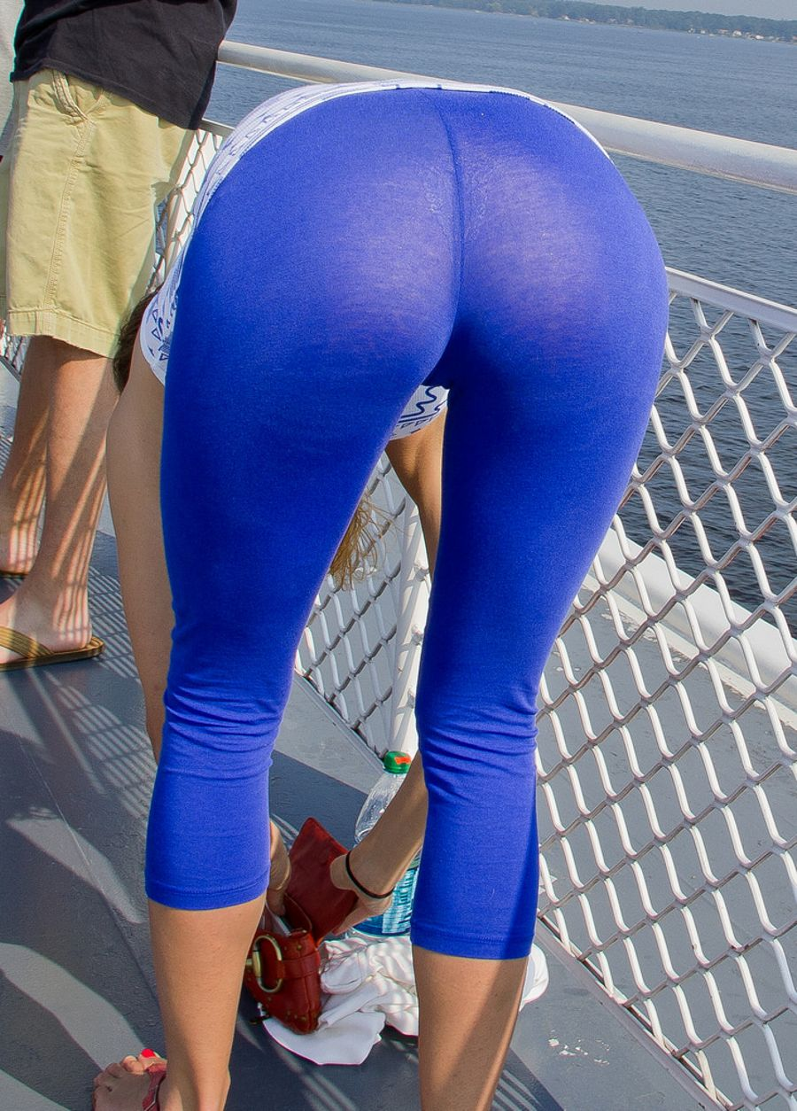 See through yoga pants pussy